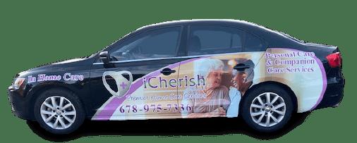 iCherish Home Care service car.